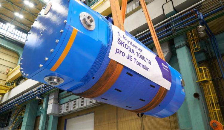 Škoda JS se výrazně podílí na zvýšení výkonu Temelína a Dukovan