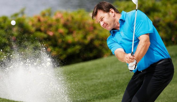 Legendární Faldo si zahrál v Dýšině golf s domácími talenty